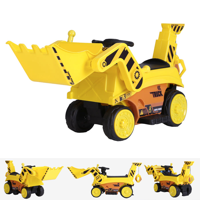 kids digger truck electric ride on car main riiroo 6v construction