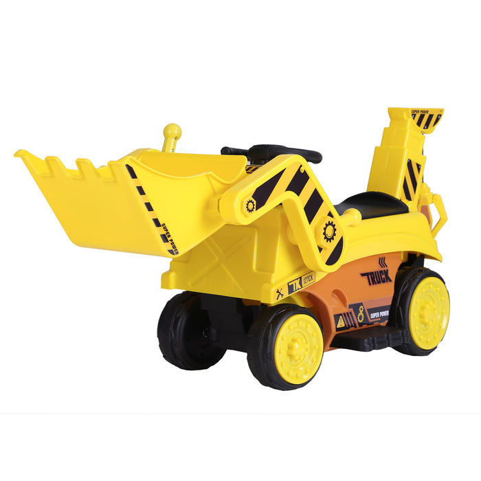kids digger truck electric ride on truck 2 riiroo 6v construction
