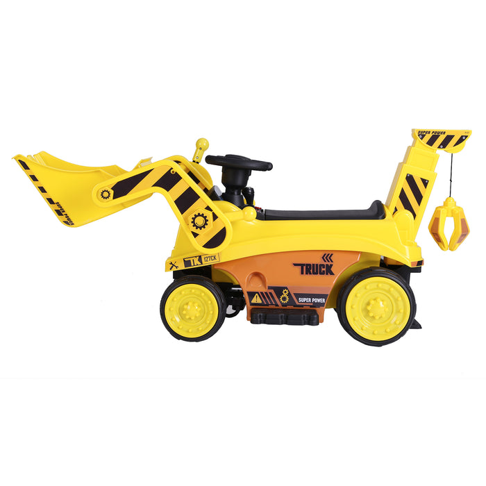 kids digger truck electric ride on truck 3 riiroo 6v construction