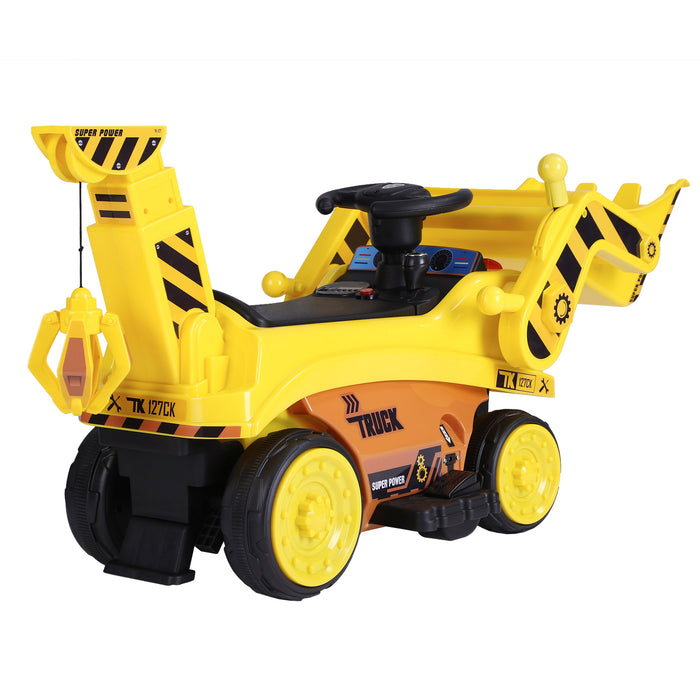 kids digger truck electric ride on truck 6 riiroo 6v construction
