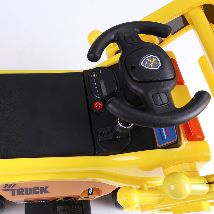 kids digger truck electric ride on truck 8 riiroo 6v construction
