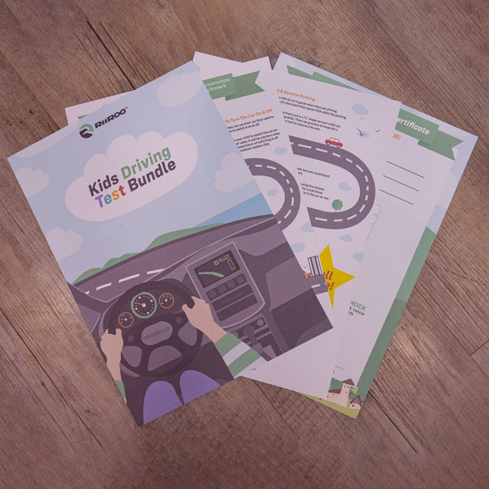 kids driving license test mercedes certificate bundle