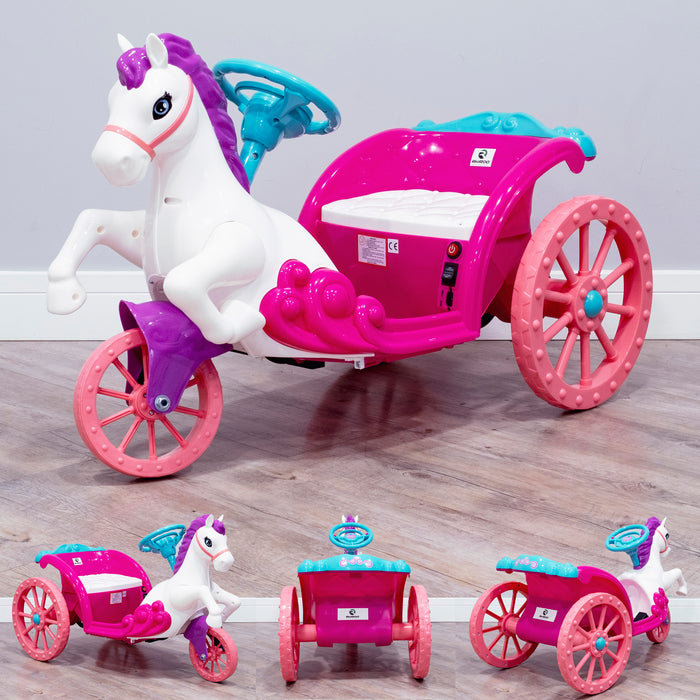 RiiRoo Unicorn Princes Electric Carriage - Pink