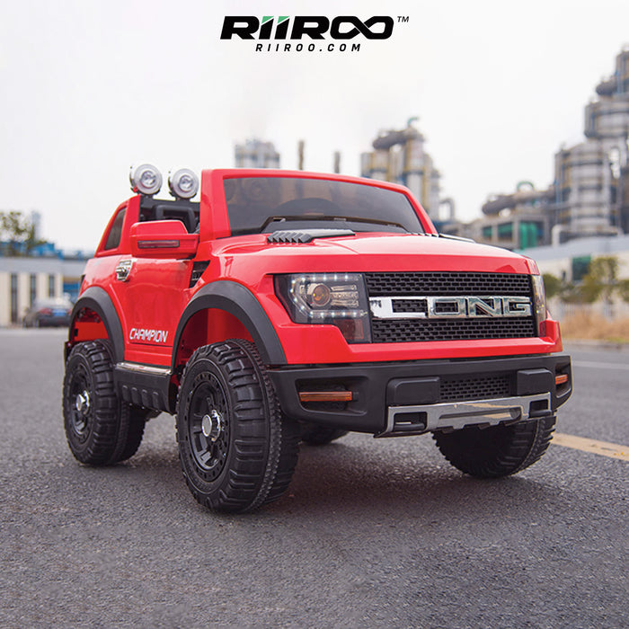 kids electric ride on car ford ranger wildtrak style battery operated pick up truck car jeep with parental remote control 12v lifestyle red wildtrack