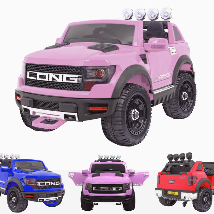 kids electric ride on car ford ranger wildtrak style battery operated pick up truck car jeep with parental remote control 12v pink wildtrack