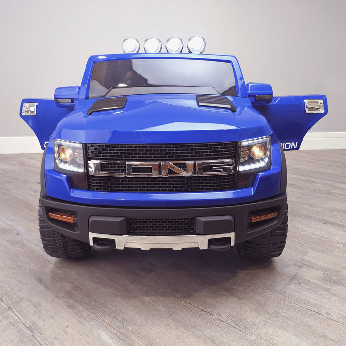 kids electric ride on car ford ranger wildtrak style battery operated pick up truck car jeep with parental remote control 12v v2 front blue wildtrack