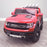 kids electric ride on car ford ranger wildtrak style battery operated pick up truck car jeep with parental remote control 12v v2 front perspective red wildtrack