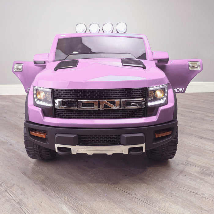 kids electric ride on car ford ranger wildtrak style battery operated pick up truck car jeep with parental remote control 12v v2 front pink wildtrack