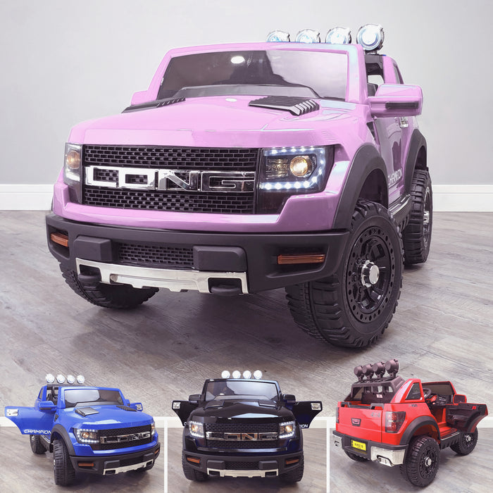 kids electric ride on car ford ranger wildtrak style battery operated pick up truck car jeep with parental remote control 12v v2 main pink Pink wildtrack