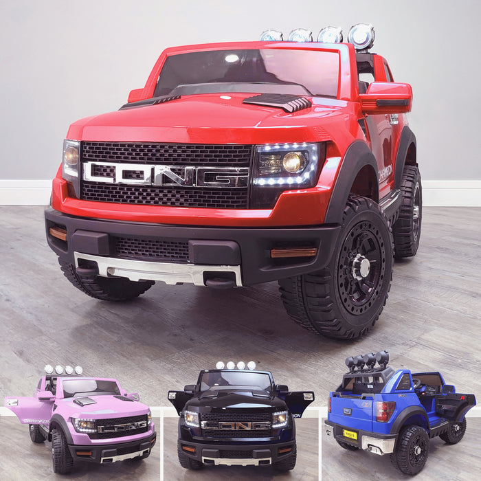 kids electric ride on car ford ranger wildtrak style battery operated pick up truck car jeep with parental remote control 12v v2 main red Red wildtrack