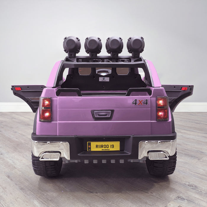 kids electric ride on car ford ranger wildtrak style battery operated pick up truck car jeep with parental remote control 12v v2 rear 2 pink in 2wd