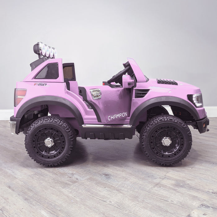 kids electric ride on car ford ranger wildtrak style battery operated pick up truck car jeep with parental remote control 12v v2 side pink in 2wd