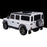 kids electric ride on car licensed land rover defender battery operated car jeep with parental remote control 12v rear perspective black alloys white