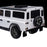 kids electric ride on car licensed land rover defender battery operated car jeep with parental remote control 12v rear prespective close up black alloys white