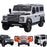 kids electric ride on car licensed land rover defender battery operated car jeep with parental remote control 12v white black alloys
