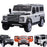 kids electric ride on car licensed land rover defender battery operated car jeep with parental remote control 12v white white