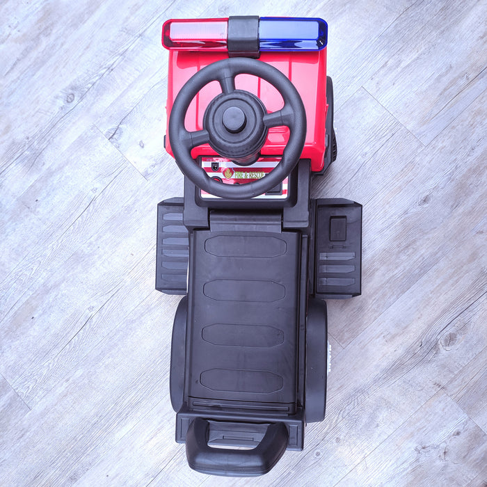 kids electric ride on fire rescue truck 6v battery operated ride on car truck toy top view riiroo engine