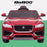 kids electric ride on jaguar f pace licensed battery operated car with parental remote control 12v front 2 red