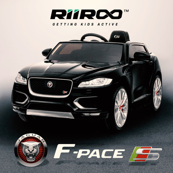 kids electric ride on jaguar f pace licensed battery operated car with parental remote control 12v life style black 2