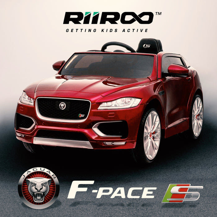 kids electric ride on jaguar f pace licensed battery operated car with parental remote control 12v life style red 2