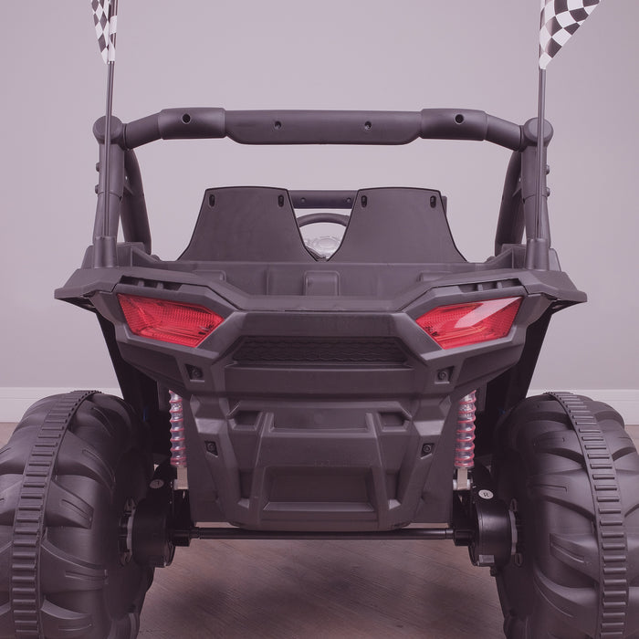kids electric ride on utv mx battery operated ride on car utv quad with parental remote control 12v rear lights direct riiroo maxpow 2s buggy 2wd white