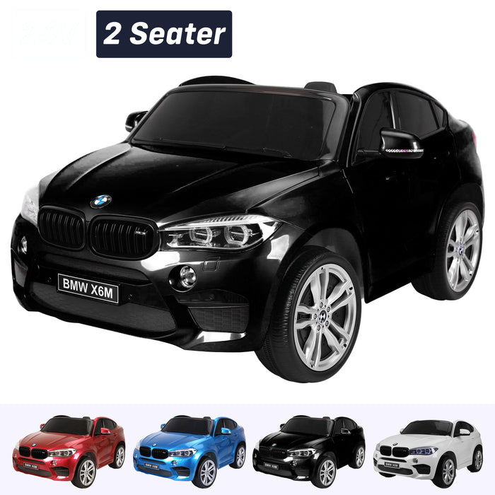 kids electric ride on car 24v bmw x6m sport black 2 Black pack 2wd