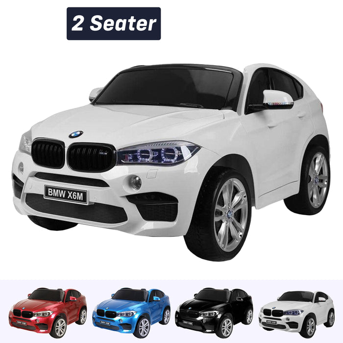 kids electric ride on car 24v bmw x6m sport white 2 White pack 2wd