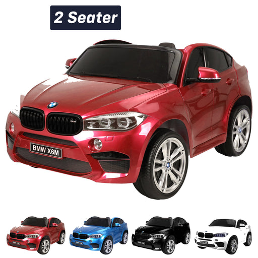 kids electric ride on car 24v bmw x6m sport red2 Red pack 2wd