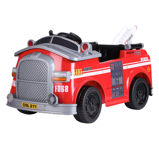 kids fire engine truck electric ride on car 4 riiroo 6v