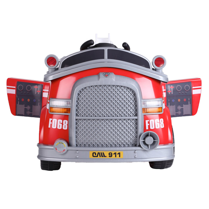 kids fire engine truck electric ride on car truck 3 riiroo 6v