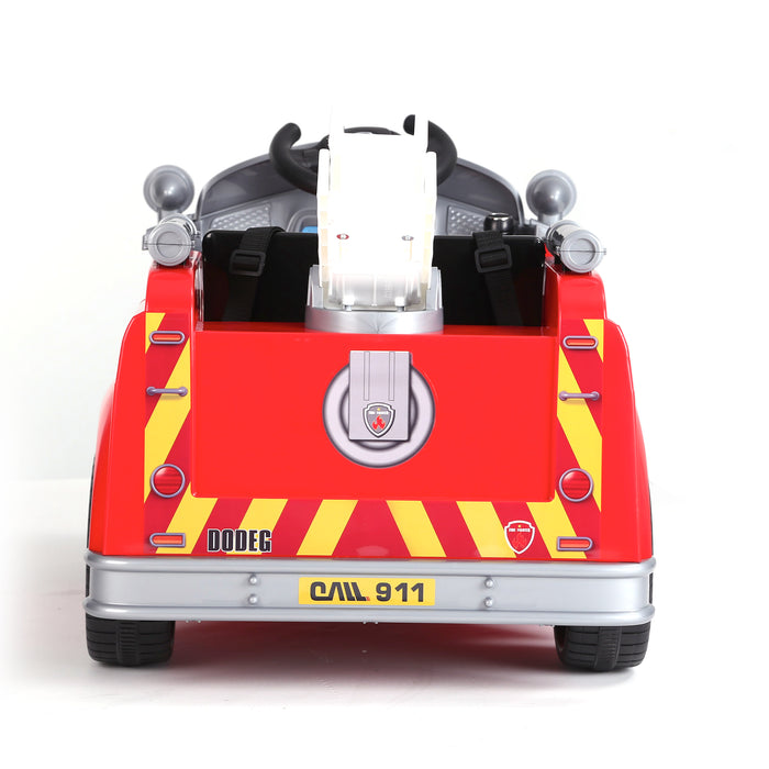 kids fire engine truck electric ride on car truck 5 riiroo 6v