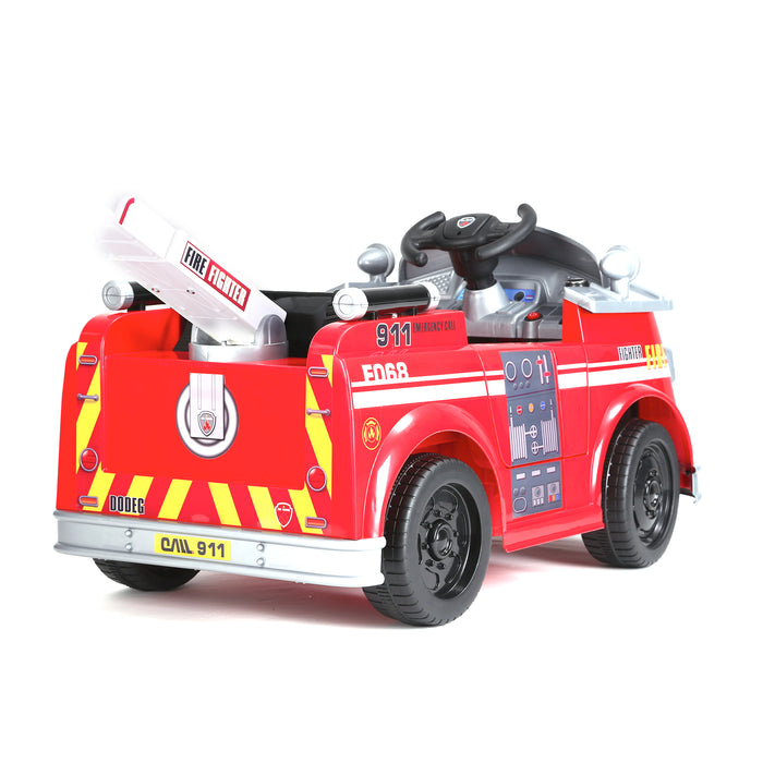 kids fire engine truck electric ride on car truck 6 riiroo 6v
