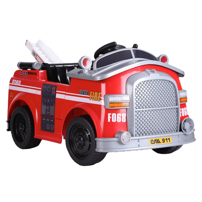 kids fire engine truck electric ride on car truck 7 riiroo 6v