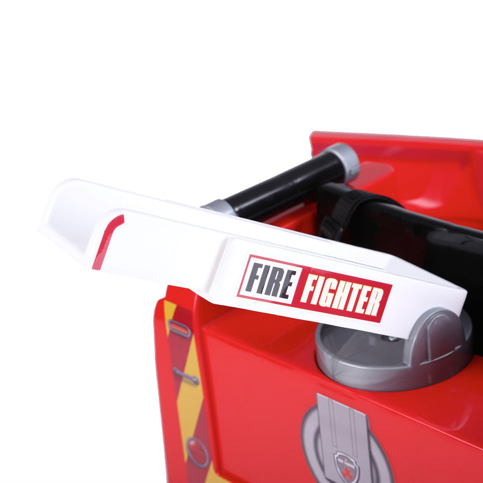 kids fire engine truck electric ride on car truck 8 riiroo 6v