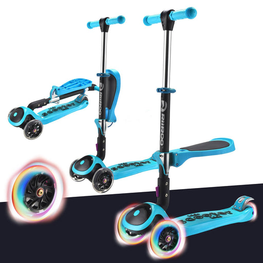 3 In 1 Bambi™ LED Scooter - Blue