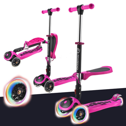 3 In 1 Bambi™ LED Scooter - Hot Pink