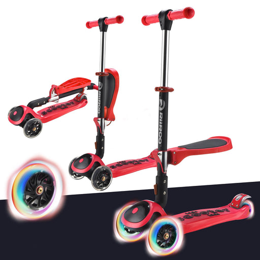 3 In 1 Bambi™ LED Scooter - Red