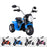 kids harley style chopper motorbike battery electric ride bike blue2 ducati 6v battery electric ride on motorbike trike red