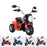 kids harley style chopper motorbike battery electric ride bike red2 ducati 6v battery electric ride on motorbike trike pink