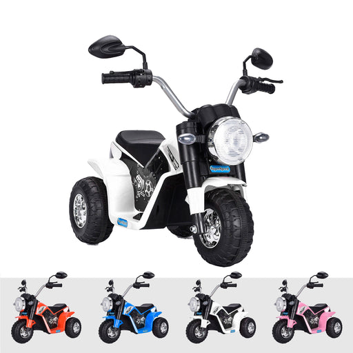 kids harley style chopper motorbike battery electric ride bike white2 ducati 6v battery electric ride on motorbike trike white