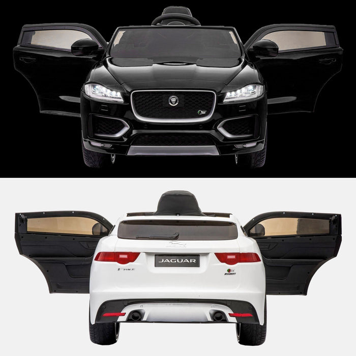 kids jaguar f pace licensed electric battery ride on car jeep with parental remote control power wheels black white white