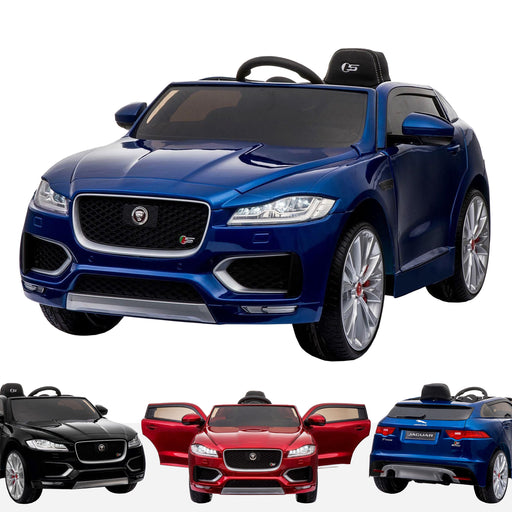 kids jaguar f pace licensed electric battery ride on car jeep with parental remote control power wheels blue Painted Blue