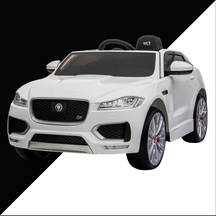 kids jaguar f pace licensed electric battery ride on car jeep with parental remote control power wheels white 3