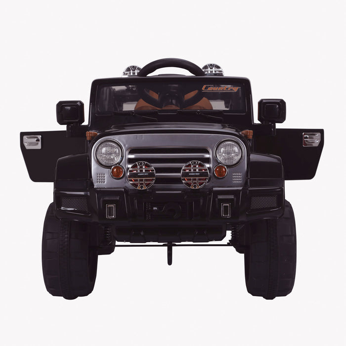 kids jeep wangler style 12 electric ride on car with parental remote 2 black direct doors open wrangler suv battery 12v music