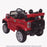 kids jeep wangler style 12 electric ride on car with parental remote 2 red rear perspective wrangler suv battery 12v music