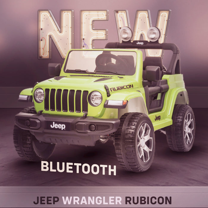 kids jeep wrangler rubicon ride on car jeep new in stock licensed 12v 2wd painted green