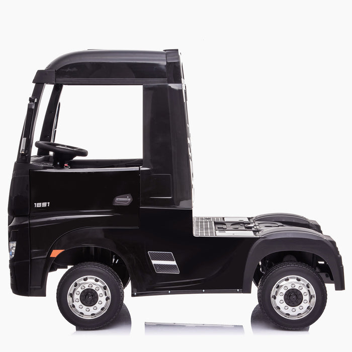 kids mercedes actros licensed ride on electric truck battery operated power wheels with parental remote control main black side benz 24v 4wd