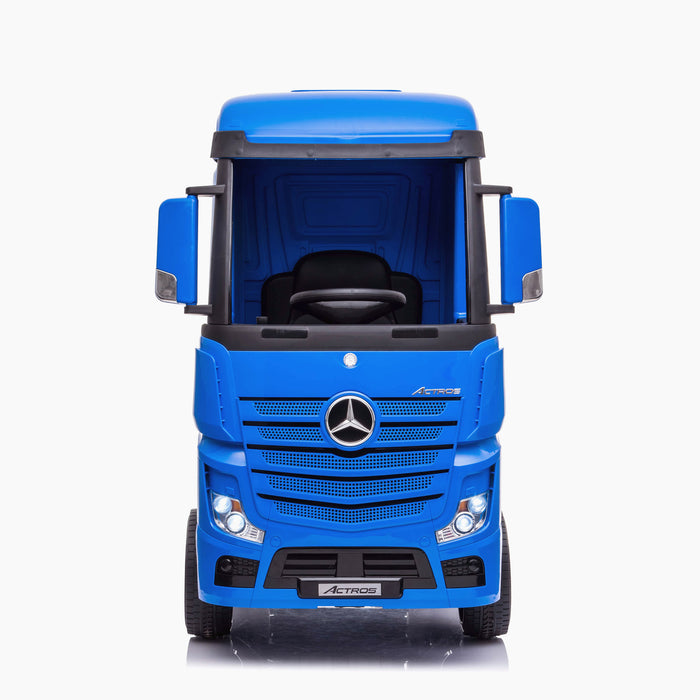 kids mercedes actros licensed ride on electric truck battery operated power wheels with parental remote control main blue front direct benz 24v 4wd