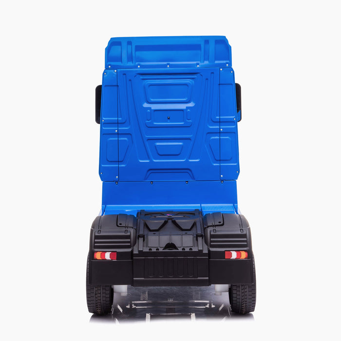 kids mercedes actros licensed ride on electric truck battery operated power wheels with parental remote control main blue rear direct benz 24v 4wd