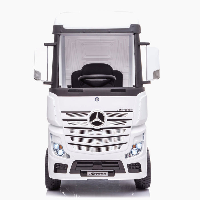 kids mercedes actros licensed ride on electric truck battery operated power wheels with parental remote control main front direct benz 24v 4wd